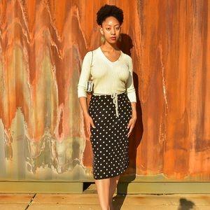 Josephine Chaus Polka Dot Skirt sz 12
